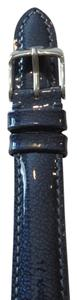 Michele Nwt Michele Authentic Ocean Wave Blue Patent Leather 16MM Watch Band