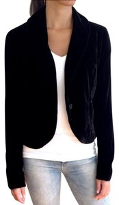 Kenneth Cole Velvet Velour Holiday Black Blazer