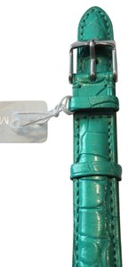 Michele Nwt Michele Authentic Jade Green Alligator Leather 16MM Watch Band