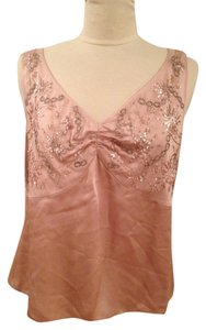Lafayette 148 New York Beaded Embellished Top Blush