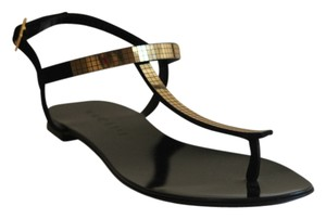 Vicini Gold and Black Sandals