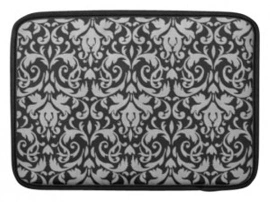 Preload https://item5.tradesy.com/images/black-and-gray-damask-water-resistant-fabric-laptop-bag-130359-0-0.jpg?width=440&height=440
