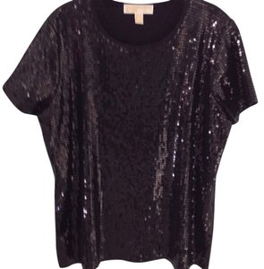 MICHAEL Michael Kors Sequin Stretchy Top Black