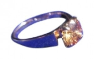 Other Yellowish Stone On Pink Gold Plated Ring