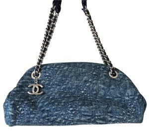 Chanel Camelia Denim Mademoiselle Shoulder Bag