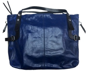 Francesco Biasia Blue Leather Tote in Cobalt