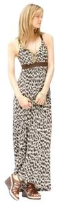 Brown Maxi Dress by Banana Republic Patio Maxi Summer Animal Print