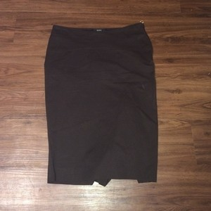 Gucci Brown Pencil Stretchy Skirt DARK BROWN