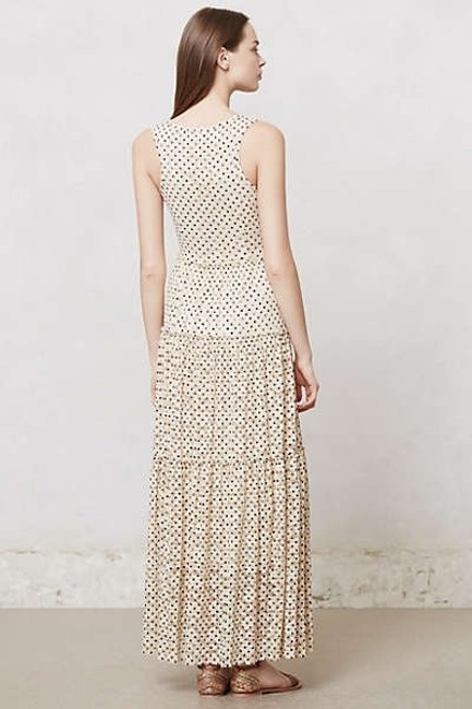 Ivory Maxi Dress by Anthropologie