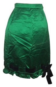 Valentino Satin Skirt Green