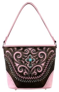 Montana West Shoulder Pink Messenger Bag
