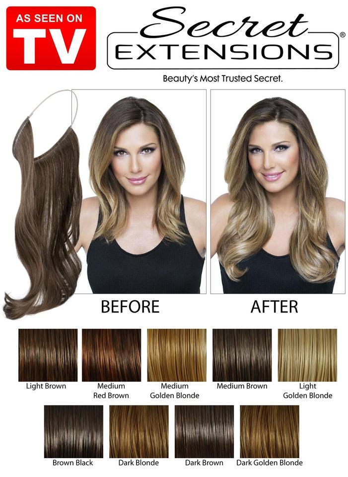 Daisy Fuentes Brown Black Secret Extensions 2 Pack Of 16 Extensions
