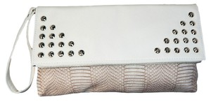 Giannini Faux Leather Cream White Clutch