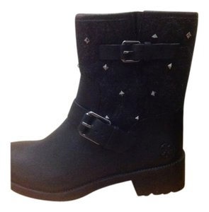 Tory Burch Stud Embellished Chrystie Style Gray Boots