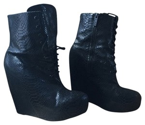 Matiko Black snake embossed leather Boots