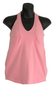 Lululemon halter T back gather bust tank top luon grapefruit pink