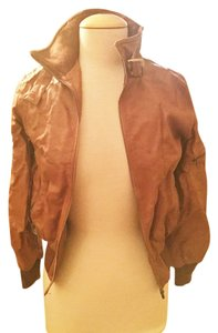Modcloth Brown Leather Jacket