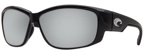 Costa Del Mar Costa Del Mar LK11OSCP Luke Black/Silver Lens Polarized Sunglasses