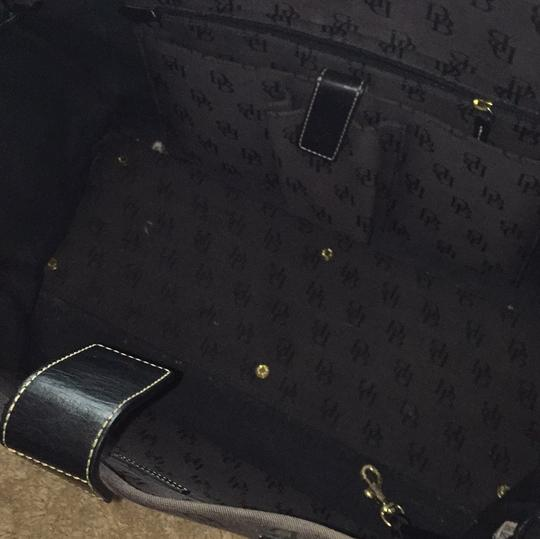 Dooney Amp Bourke Black Fabric And Leather Db Logo Tote
