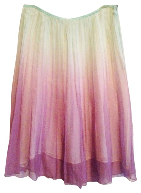 W118 by Walter Baker Lilac Transparent Layered Flowy A-line Date Night Magical Skirt Ombre- Aqua Blue Lavendar