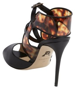 Paul Andrew Black Cutout Black Lucia Pumps