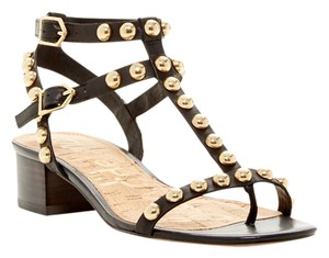 Sam Edelman Studded Gladiator BLACK Sandals