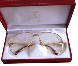 Cartier Vintage Cartier Vendome Santos Gold Plated Sunglasses 62 14