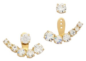 Kate Spade NEW kate spade Dainty Sparklers Ear Jacket Studs Earrings 12k