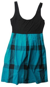 Topshop short dress Black/Blue Black Blue Plaid on Tradesy