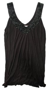 Matty M Beaded Tank Top Black