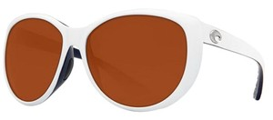 Costa Del Mar Costa Del Mar LM72OCP La Mar White/Copper Lens Polarized Sunglasses