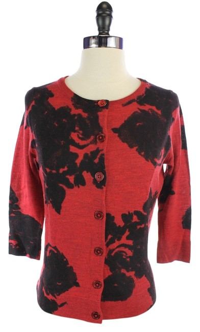 Preload https://item2.tradesy.com/images/talbots-red-and-black-wool-button-large-cardigan-size-14-l-1303976-0-0.jpg?width=400&height=650