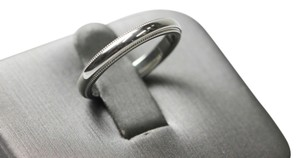 Tiffany & Co. Tiffany and Co Platinum 3mm milgrain wedding band size 6