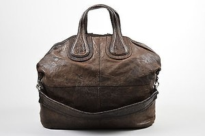 Givenchy Dark Wrinkled Tote in Brown