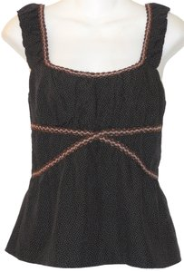 Nanette Lepore Boho Polka Dot Top Brown