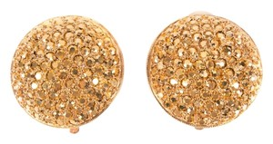 St. John Gold Textured Clip-on Earrings