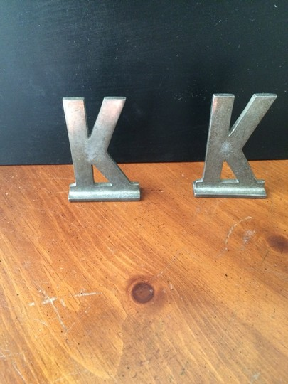 BHLDN Silver K Initial Reception Decoration