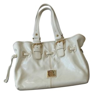 Dooney & Bourke Leather Designer Satchel in White