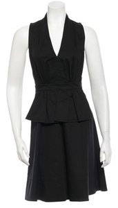 Derek Lam short dress Black A Line Sleveless Mini Size 6 on Tradesy