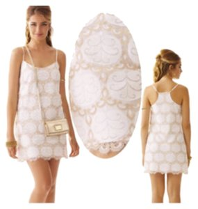 Lilly Pulitzer short dress White/gold on Tradesy