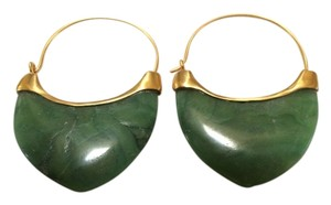Anticoa Orecchini Malachite 24K over .925 Sterling Silver Earrings