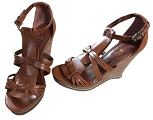 7 For All Mankind Cognac Sandals