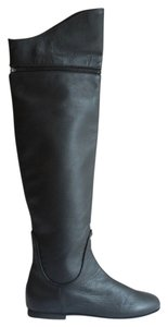 Tashkent Black Pebbled Leather Boots