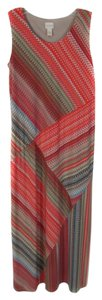 Multicolored Maxi Dress by Chico's Maxi Full Length