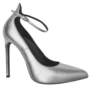 Saint Laurent Ysl Givenchy Tom Ford Celine Giuseppe Zanotti Silver Pumps