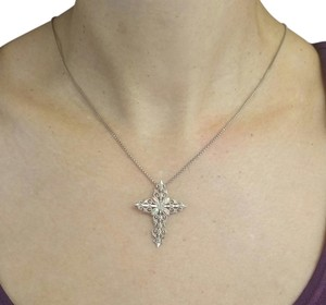 Other Cross Chain Necklace in Sterling Silver and 12K Gold, 18in