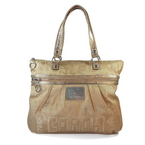 Coach Weekender Lurex Glam Jacquard Tote in Gold Silver