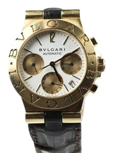 BVLGARI Bvlgari Bulgari Diagono Chrono Solid 18k Gold Luxury Watch