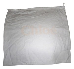 Chloé Brand New Chloe' Sleeper/ Dust Bag or Protective Cover White cotton with Tan logo Size 14 width x 14 Length. Drawstring Bag