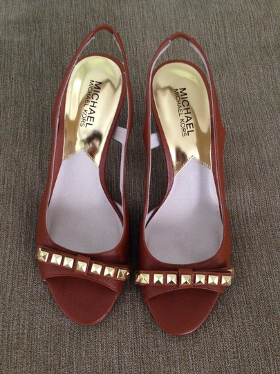 Michael Kors Brown with gold Sandals